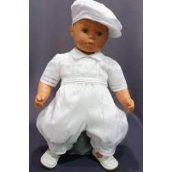 Barboteuse de baptême blanche MATHEO