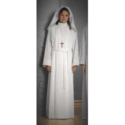 Aube de communion fille avec voile tout coton blanc