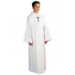Aube de communion garçon tout coton blanc