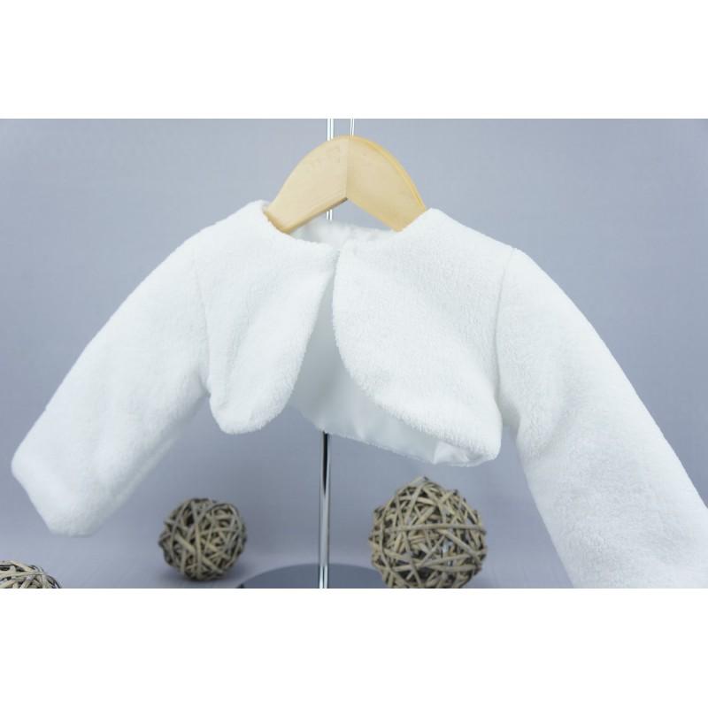 d73b8f997b457 Manteau fourrure synthétique pour fille blanc ou ivoire