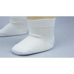 Chaussette ivoire ou blanche cérémonie garçon