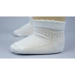 Chaussette blanche cérémonie fille résille