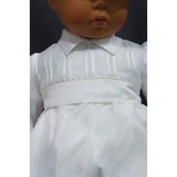 Barboteuse baptême blanche ENZO