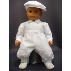 Barboteuse baptême blanche CLEMENT