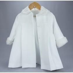 Manteau de baptême fille blanc