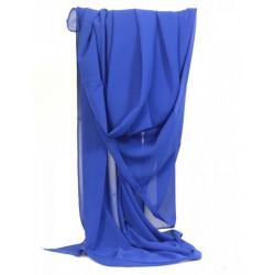Etole mousseline bleu roi