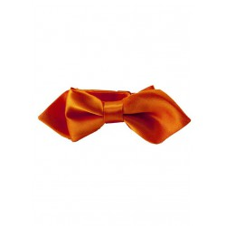Noeud papillon et pochette enfant satin orange