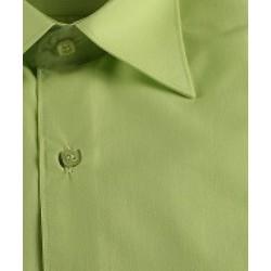 Chemise cérémonie garçon manches courtes VERT ANIS