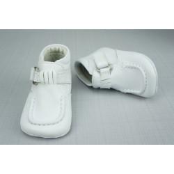 Bottines babies blanc cuir bébé garçon