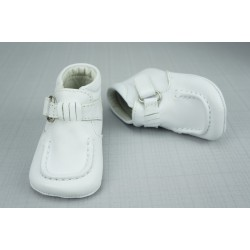 Bottines babies cuir bébé garçon blanc