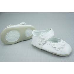 Chaussures babies baptême blanc