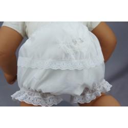 Culotte de baptême dentelle et shantung