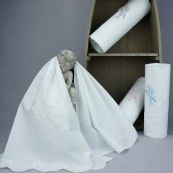Linge lange serviette étole vêtement blanc de baptême N1