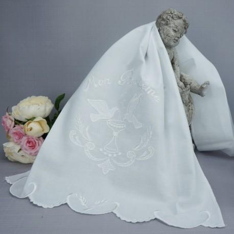Linge lange serviette étole vêtement blanc de baptême N2
