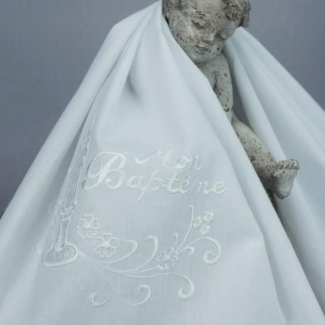 db0ad3666d0e Linge, lange, serviette, étole, vetement blanc de bapteme N3
