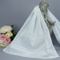 Linge lange serviette étole vêtement blanc de baptême N5