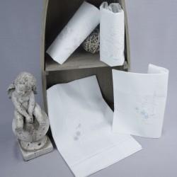 Linge lange serviette étole vêtement blanc de baptême N6