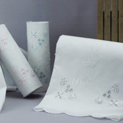 Linge lange serviette étole vêtement blanc de baptême N7