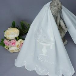 Linge lange serviette étole vêtement blanc de baptême N8