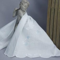 Linge lange serviette étole vêtement blanc de baptême N9