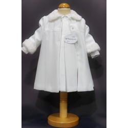 Robe cérémonie baptême blanche bébé fille MANON (ensemble avec manteau)