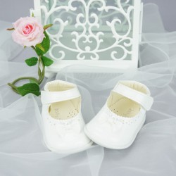 Chaussures cérémonie bébé fillevernies blanches ref.162