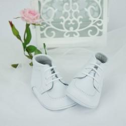 Chaussures cérémonie bébé garçon blanc cuir ref.5397