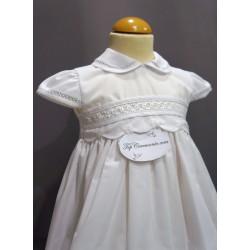 Robe baptême blanche bébé fille PO 1014MC