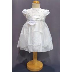 Robe baptême blanche bébé fille PO 1018MC