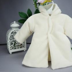 Manteau fourrure bébé polaire ivoire