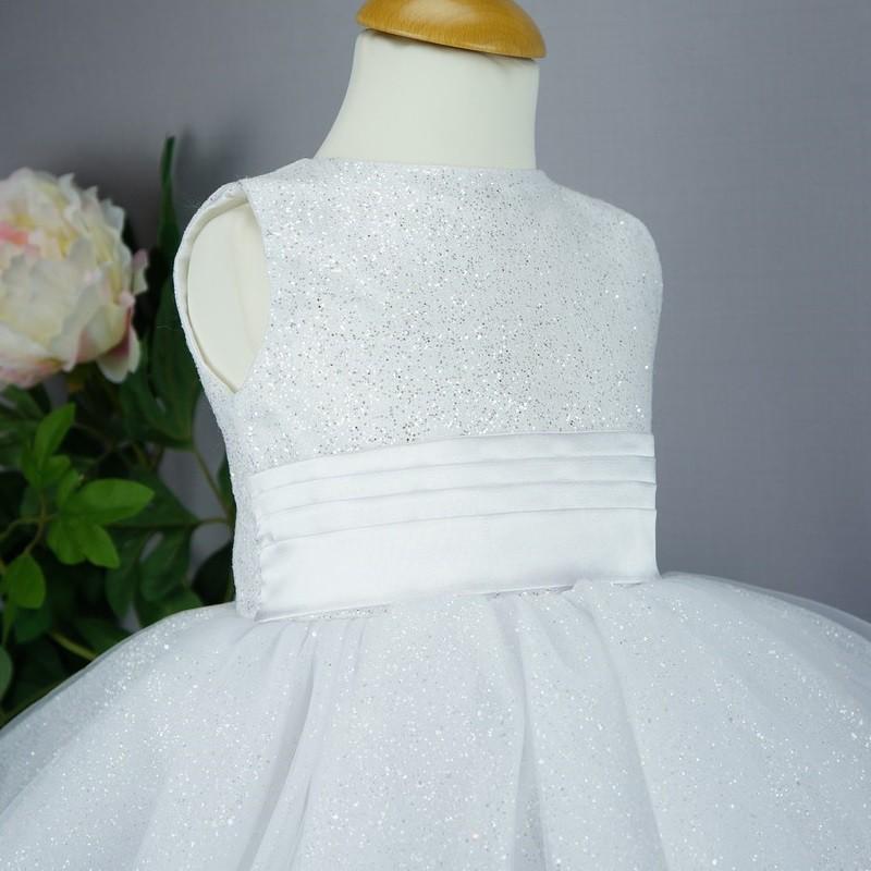 Robe Cérémonie Bébé Fille Blanche Pour Baptême Mariage