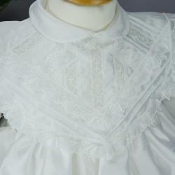 Robe blanche manches longues pour cérémonie de baptême, mariage ref. RBML2
