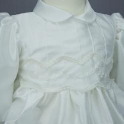 Robe cérémonie baptême blanche bébé fille manches longues RBML15