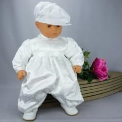 Barboteuse de baptême blanche ref. BBML01