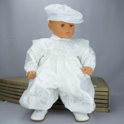 Barboteuse de baptême hiver blanche ref. BBML2