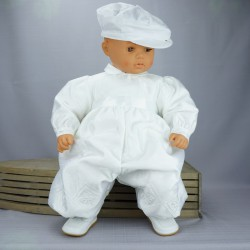 Barboteuse de baptême blanche ref. BBML03