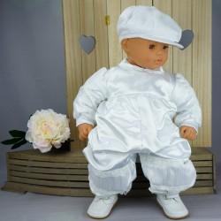 Barboteuse de baptême blanche ref. BBML04