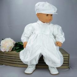 Barboteuse de baptême blanche ref. BBML05