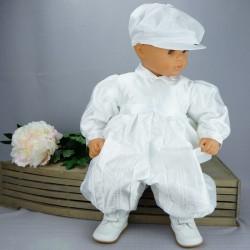 Barboteuse de baptême blanche ref. BBML06
