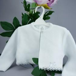 Gilet cérémonie bébé fille blanc