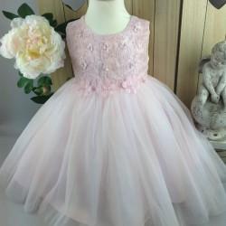 Robe de cérémonie bébé fille CH-RBK-3101 rose