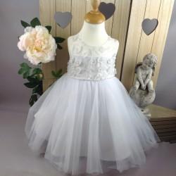 Robe de cérémonie bébé fille CH-RBK-8108 blanche