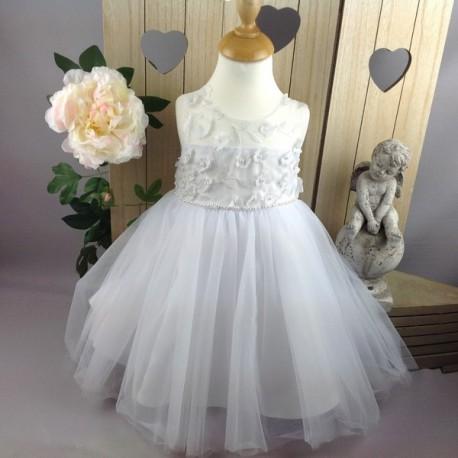 0b8f649576aa7 Robe de cérémonie bébé fille CH-RBK-8108 blanche