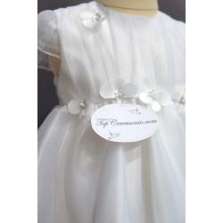 Robe baptême blanche bébé fille PO 1017MC
