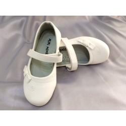 Ballerines cérémonie bébé fille blanc