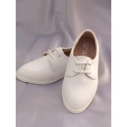Chaussures cérémonie garçon blanc du 19 au 24 ref. F79-2