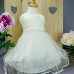 Robe de cérémonie bébé fille CH 6323-1 ivoire