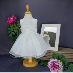 Robe baptême blanche bébé fille CH 0006SM