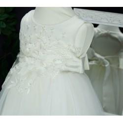 Robe de cérémonie bébé fille CH-RBK-8108 ivoire