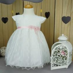 Robe baptême blanche bébé fille PO 1035MC